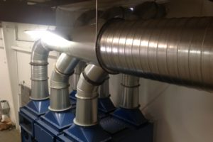 Bulk Powder Cartridge Collector Ductwork